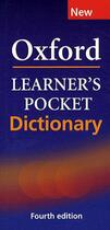 Couverture du livre « Oxford learner's pocket dictionary (fourth edition) » de Collectif aux éditions Oxford University Press