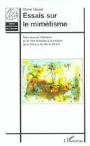 Couverture du livre « Essais sur le mimetisme » de Olivier Maurel aux éditions L'harmattan