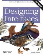 Couverture du livre « Designing interfaces » de Jenifer Tidwell aux éditions O Reilly