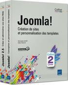 Couverture du livre « Joomla! création de sites et personnalisation des templates ; coffret » de Christophe Aubry et Didier Mazier aux éditions Eni
