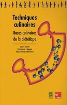 Couverture du livre « Techniques culinaires bases culinairesde la dietetique coll bts dietetique » de Cariel aux éditions Eminter