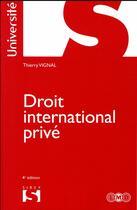 Couverture du livre « Droit international privé (4e édition) » de Thierry Vignal aux éditions Sirey