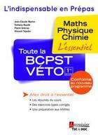 Couverture du livre « Toute la BCPST-Véto » de Collectif aux éditions Tec Et Doc