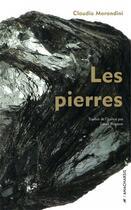 Couverture du livre « Les pierres » de Claudio Morandini aux éditions Anacharsis