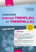 Couverture du livre « Concours écricome tremplin 1 et passerelle 1 (2e édition) ; tout-en-un » de Collectif aux éditions Dunod