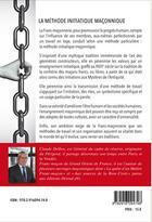 Couverture du livre « La méthode initiatique maçonnique » de Claude Delbos aux éditions Detrad Avs