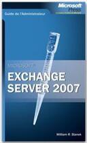 Couverture du livre « Exchange server (édition 2007) » de Stanek aux éditions Microsoft Press