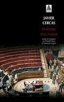 Couverture du livre « Anatomie d'un instant » de Javier Cercas aux éditions Actes Sud