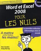 Couverture du livre « Word et Excel pour mac pour les nuls (édition 2008) » de Dan Gookin aux éditions First Interactive