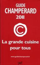 Couverture du livre « Champerard 2011 » de Marc De Champerard aux éditions Puf