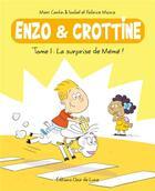 Couverture du livre « Enzo et Crottine T.1 ; la surprise de Mémé ! » de Marc Cantin et Isabel Cantin et Fabrice Mosca aux éditions Clair De Lune