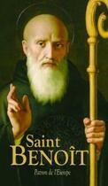 Couverture du livre « Saint Benoît, patron de l'Europe » de Collectif aux éditions Benedictines