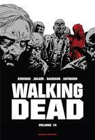 Couverture du livre « Walking dead ; INTEGRALE VOL.14 ; T.27 ET T.28 » de Charlie Adlard et Robert Kirkman et Stefano Gaudiano aux éditions Delcourt
