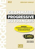 Couverture du livre « Grammaire progressive deb. complet + appli + cd 2e edition » de Gregoire/Kostucki aux éditions Cle International