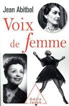 Couverture du livre « Voix de femmes » de Abitbol Jean aux éditions Odile Jacob