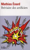 Couverture du livre « Bréviaire des artificiers ; manuel de terrorisme » de Mathias Enard aux éditions Gallimard