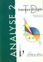 Couverture du livre « Analyse Ii Travaux Diriges Livre De Bord » de Auzimour Annick aux éditions Vuibert