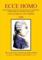 Couverture du livre « Ecce homo » de Louis-Claude De Saint-Martin aux éditions Editions Maconniques