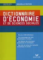 Couverture du livre « Dictionnaire d'économie et de sciences sociales (édition 2008) » de Olivier Garnier et Jean-Yves Capul aux éditions Hatier