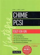 Couverture du livre « Chimie tout-en-un PCSI (4e édition) » de Bruno Fosset aux éditions Dunod