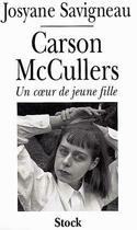 Couverture du livre « Carson mc cullers » de Josyane Savigneau aux éditions Stock