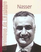 Couverture du livre « Nasser » de  aux éditions Chronique