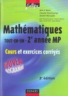 Couverture du livre « TOUT-EN-UN ; 2E ANNEE MP » de Deschamps et Warusfel aux éditions Dunod