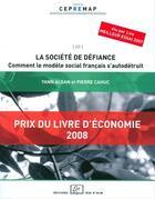 Couverture du livre « La société de défiance » de Yann Algan et Pierre Cahuc aux éditions Rue D'ulm