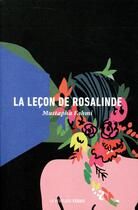 Couverture du livre « La leçon de Rosalinde » de Mustapha Fahmi aux éditions La Peuplade