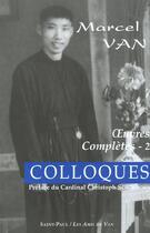 Couverture du livre « Colloques » de Marcel Van aux éditions Saint Paul