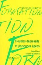 Couverture du livre « Troubles dep et pers agees » de Loo aux éditions John Libbey