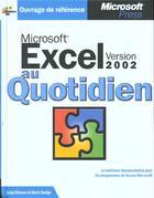 Couverture du livre « Excel 2002 » de Craig Stinson et Mark Dodge aux éditions Microsoft Press