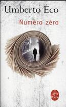 Couverture du livre « Numéro zéro » de Umberto Eco aux éditions Lgf