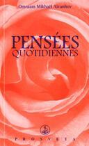 Couverture du livre « Pensees quotidiennes 2000 » de Omraam Aivanhov aux éditions Prosveta