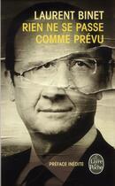 Couverture du livre « Rien ne se passe comme prévu » de Laurent Binet aux éditions Lgf