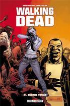 Couverture du livre « Walking dead T.21 ; guerre totale » de Charlie Adlard et Robert Kirkman et Stefano Gaudiano aux éditions Delcourt