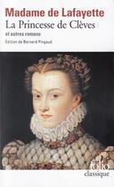 Couverture du livre « La princesse de Clèves et autres romans » de Madame De Lafayette aux éditions Gallimard