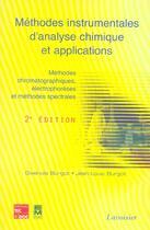 Couverture du livre « Methodes instrumentales d'analyse chimique et applications ; 2e edition » de Jean-Louis Burgot et Gwenola Burgot aux éditions Eminter