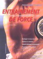 Couverture du livre « Entrainement De Force » de Dieter (Dr. Zittlau aux éditions Chantecler