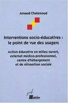 Couverture du livre « Interventions socio educatives » de Chatenoud aux éditions Matrice