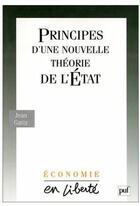 Couverture du livre « Principes d'une nouvelle théorie de l'Etat » de Jean Gatty aux éditions Puf