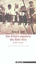 Couverture du livre « Une histoire populaire des Etats-Unis ; de 1492 à nos jours » de Howard Zinn aux éditions Agone