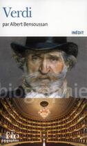 Couverture du livre « Verdi » de Albert Bensoussan aux éditions Folio