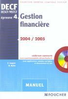 Couverture du livre « Gestion financiere, epreuve 4 (édition 2004/2005) » de G Langlois aux éditions Foucher