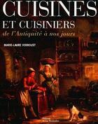 Couverture du livre « Cuisines Et Cuisiniers » de Jacques Verroust aux éditions La Martiniere