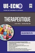 Couverture du livre « Ue-ecn+ therapeutique edition 2017 » de Jordan Vatele aux éditions Vernazobres Grego