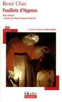 Couverture du livre « Feuillets d'hypnos » de René Char aux éditions Gallimard