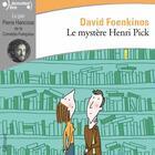 Couverture du livre « Le mystère Henri Pick » de David Foenkinos aux éditions Gallimard Audio
