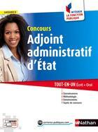 Couverture du livre « Concours adjoint administratif d'état ; catégorie C (édition 2016) » de Pascal Tuccinardi aux éditions Nathan