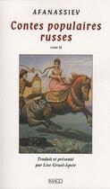 Couverture du livre « Contes populaires russes t.2 » de Alexandre Afanassiev aux éditions Imago